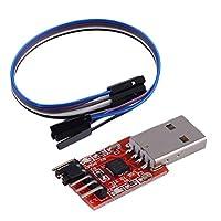 TTL UART 6PINモジュールシリアルコンバータCP2102 STC PRGMRフリーケーブル卸売(レッド)へのホットUSB