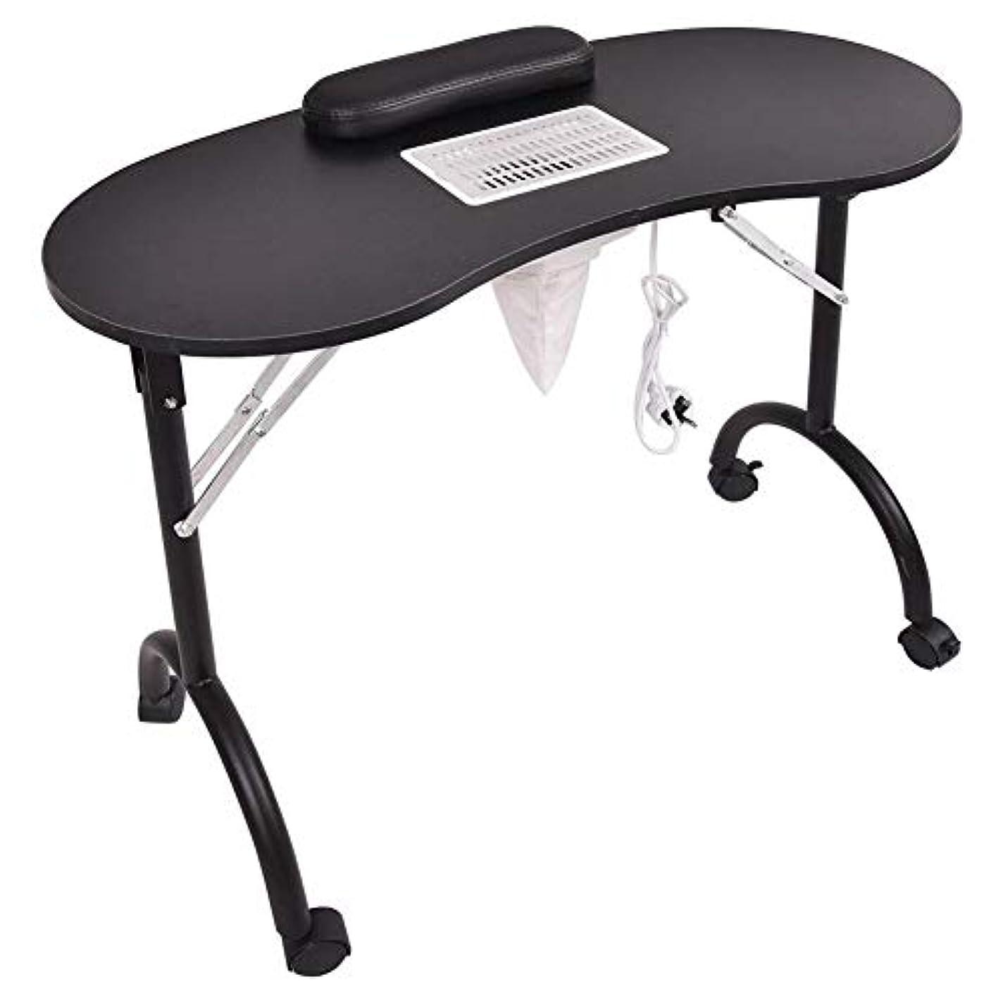 めったにヘクタール自明マニキュアテーブル折りたたみ式ポータブルネイルテーブルベントマニキュアテーブルネイルデスクサロンスパネイル掃除機andbag