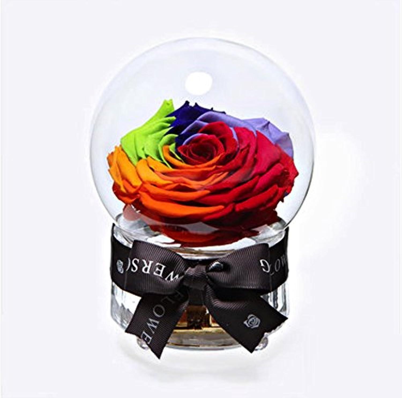 [ARTASY WORKSHOP®][並行輸入品] プリザーブドフラワー音楽ボックス オルゴール セット 枯れない花 エクアドルのバラ使用 メッセージカード付き 天空の城 メロディー お祝い ギフト 記念日 特別な日 バレンタインデー お誕生日プレゼント Preserved Flower Music Box With Dried Flower Card Set (カラフル)