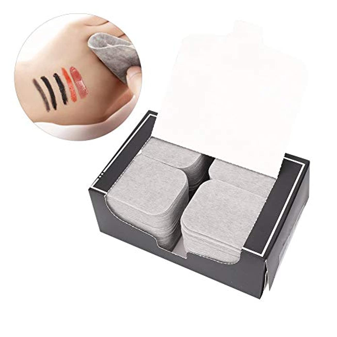 抜粋コック準拠200ピース竹炭タオルメイクアップフェイスクレンジングパッド化粧品除去ツール