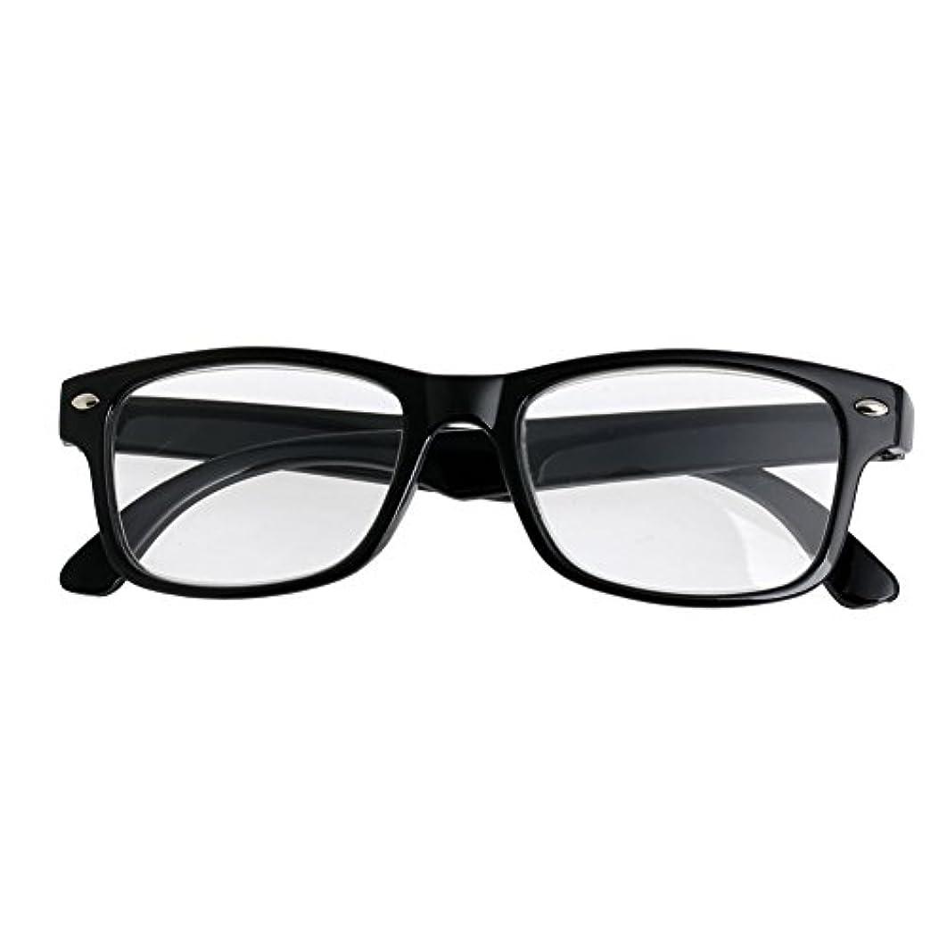 jackyeeみんなのメガネホームリーディンググラス+300クラシックブラックフレームレトロスタイルスプリングリーディンググラスリーダー+1.0-4.0