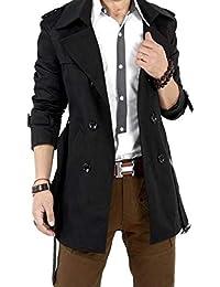 メンズ トレンチコート ビジネス スーツ カジュアル ファッション 無地 長袖 アウター ジャケット 防寒 防風 大きいサイズ 上着