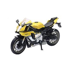 スカイネット 1/12 完成品バイク ヤマハ YZF-R1 2016 イエロー