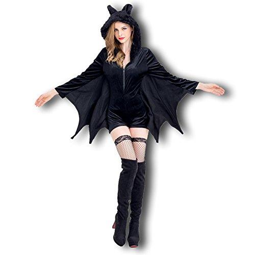 Honeystore ハロウィン 仮装 魔女 コウモリ 衣装 大人 レディース コスプレ コスチューム 黒 かわいい
