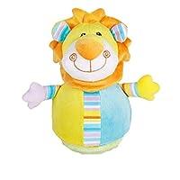 KEANER 新生児 乳児 ロール-ポリ おもちゃ 愛らしいゾウ カラフル ソフト ハンドガラガラガラ 手回り キッズ ベル ボール トイ ギフト (オン)