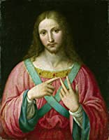Leonardo Da Vinci ジクレープリント キャンバス 印刷 複製画 絵画 ポスター(Bernardino Luiniのフォロワー。キリスト)ビッグサイズ 77.3 x 99.1cm