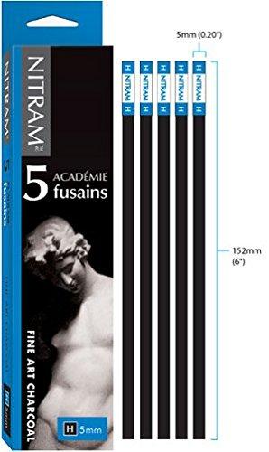 Nitram Académie Fusains Charcoal - H (Hard) - 5mm