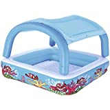 JYY 子供のための膨脹可能なプールのパドリングプール、パッドを入れられた底との屋内及び屋外の多色の頑丈/青