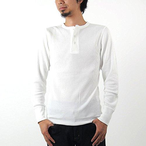 [アビレックス] AVIREX Tシャツ サーマル ヘンリーネック ワッフル デイリーウエア 6153516 (S,002-ホワイト)