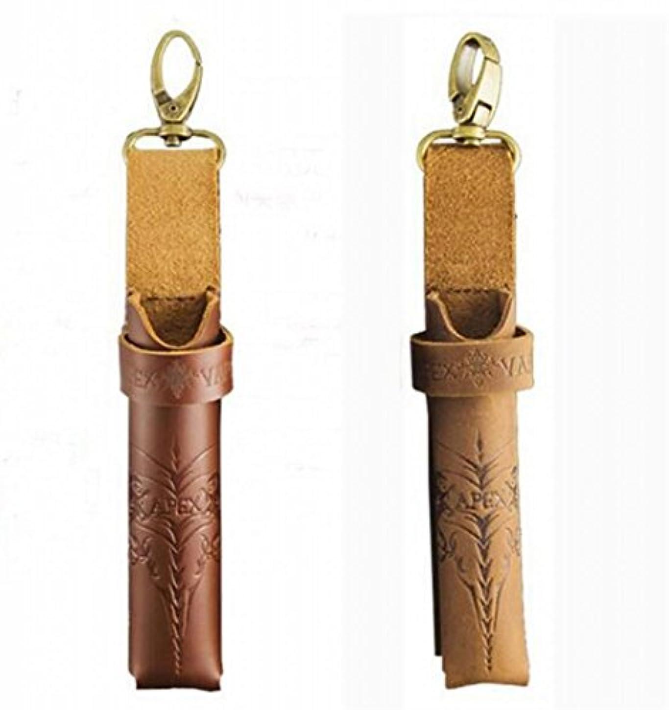 桁仕事スピン本革 電子タバコケース 携帯ホルダー 牛革 レザー (①ダークレッド)