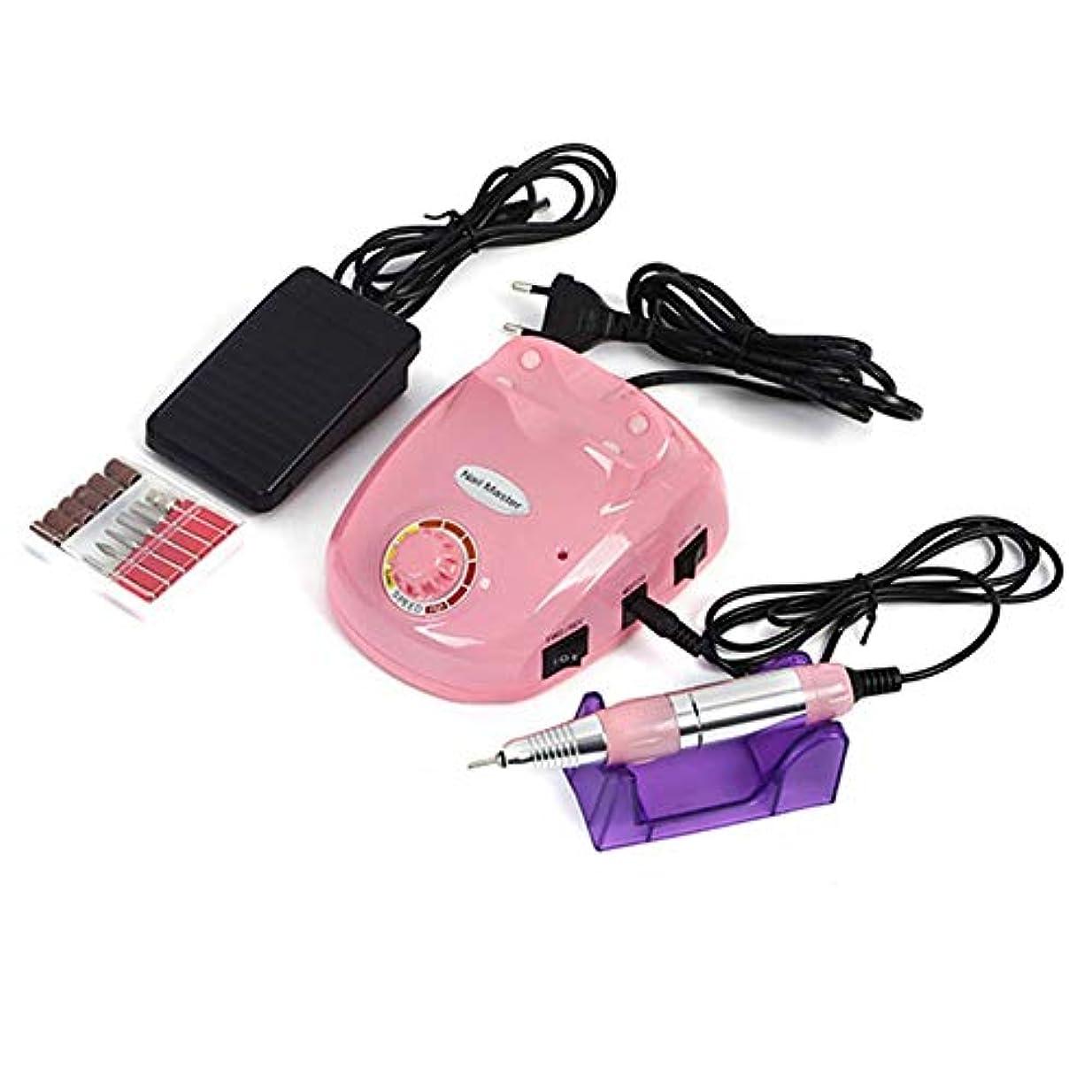 合理的けがをする浪費30000 rpmネイルマニキュア機電動ネイルドリルビットファイルカッターサンディングバンドアクセサリーセットペディキュア機器機器、黒,ピンク