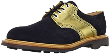 Mark McNairy 9183-ASGZ: Navy Suede / Gold