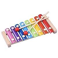 Hjuns パイプシロホン コンサート小さな音楽家 演奏会 カラフルな手ノック木製ピアノ 子供のおもちゃ木琴音 知能玩具