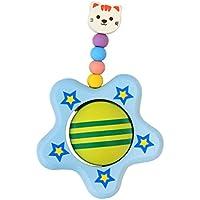 【ノーブランド 品】赤ちゃん 子供 木製 活動 おもちゃ キュート スター 木 ガラガラ