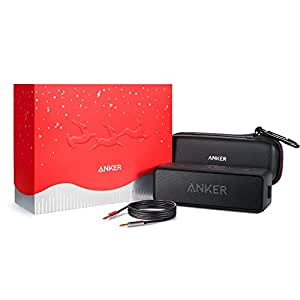 【数量限定ギフトモデル】Anker SoundCore 2 (12W Bluetooth4.2 スピーカー 24時間連続再生)【強化された低音/IPX5防水規格/デュアルドライバー/マイク内蔵】(ブラック)