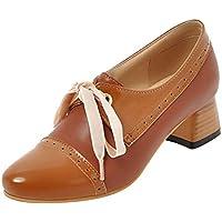 MisaKinsaWomen Fashion Block HeelBroguePumps Shoes