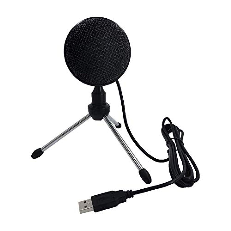 無声でその他アナニバーusb pcマイク、usbコンピュータマイクポータブル全指向性コンデンサーマイク用録画ビデオ会議ゲーム, black