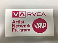 RVCA ANP STICKER (PINK/WHITE, L)
