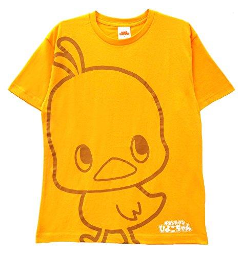 【HRA5300MA】チキンラーメン ひよこちゃん 天竺 半袖Tシャツ (Aオレンジイエロー, L)