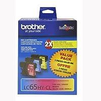 汎用互換インクカートリッジBrother lc-65シアン、マゼンタ、イエロー、マルチカラー、3- Pack )