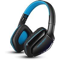 ワイヤレスヘッドホン 折りたたみ式 Bluetooth 4.1 + ステレオ音質 + マイク搭載 + リチウム電池(USBで充電可) 有線/無線両用 ゲーミングヘッドフォン 通話可 音楽再生 携帯便利 PS4 タブレットPC スマートフォンなどに対応 (ブラック?ブルー)