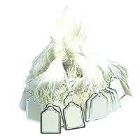 SM SunniMix 約500個入り 糸付き価格タグ 価格ディスプレー 紙の値札 値札 小売の値札 使いやすさ