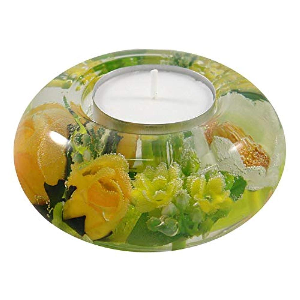 入射広範囲トライアスリートドリームライト UFO スプリングフラワー 花 キャンドルホルダー ガラス キャンドルスタンド おしゃれ