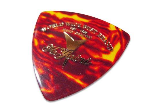 K.YAIRI 三角ピック M(ロゴ/赤ベッコウ柄)×10枚セット(トライアングルピック)ミディアム
