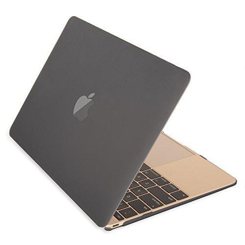 Mosiso -MacBook Retina ディスプレイ12 インチ用 マット加工 ハードケース カバー 高品質シェルカバー (対応モデル:2015/2016年[A1534]新型 光学ドライブ無し)(ブラック)