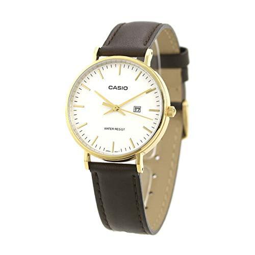 [カシオ]CASIO 腕時計 スタンダード チープカシオ 革ベルト カレンダー シルバー×ダークブラウン LTH-1060GL-7A レディース [並行輸入品]