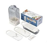 日本製 味わい食房V型調理器セット AVC-654  [セット・千切り・スライサー・おろし器]