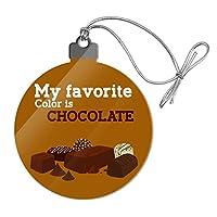 私の好きな色はチョコレートですアクリルクリスマスツリーホリデーオーナメント