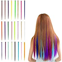 15 Pieces Multi Colors Highlight Hair Extensions Fashion Hairpieces Clip In Hair Extensions