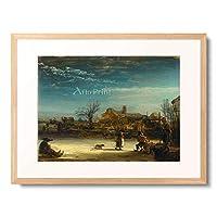 レンブラント・ファン・レイン Rembrandt Harmenszoon van Rijn 「Winter Landscape. 1646」 額装アート作品