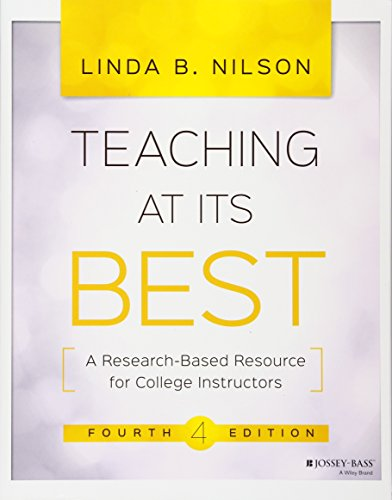 Download Teaching at Its Best: A Research-Based Resource for College Instructors 1119096324