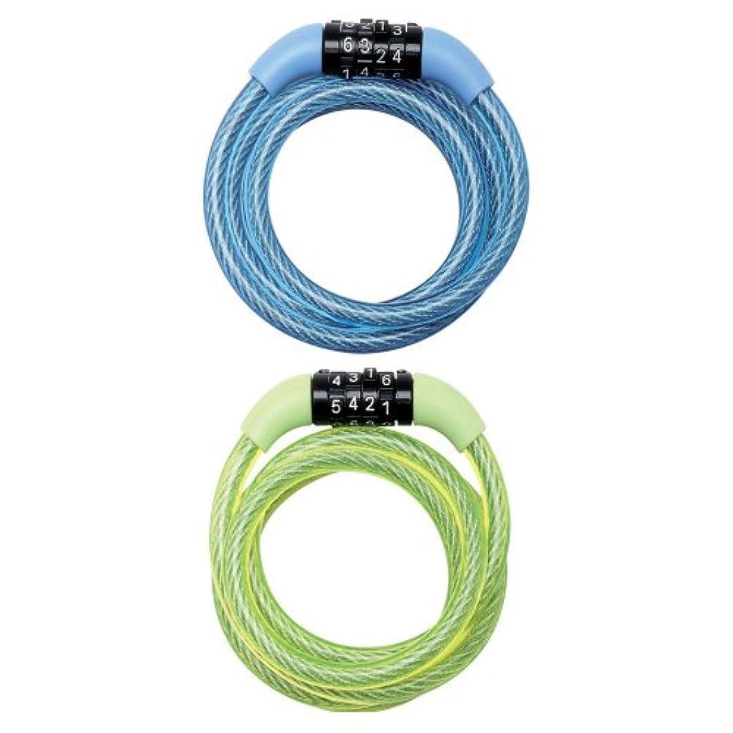 重力未使用休日にMaster Lock Street Quantum Combi Câble antivol auto-enroulable Multicolore 1200 x 8 mm