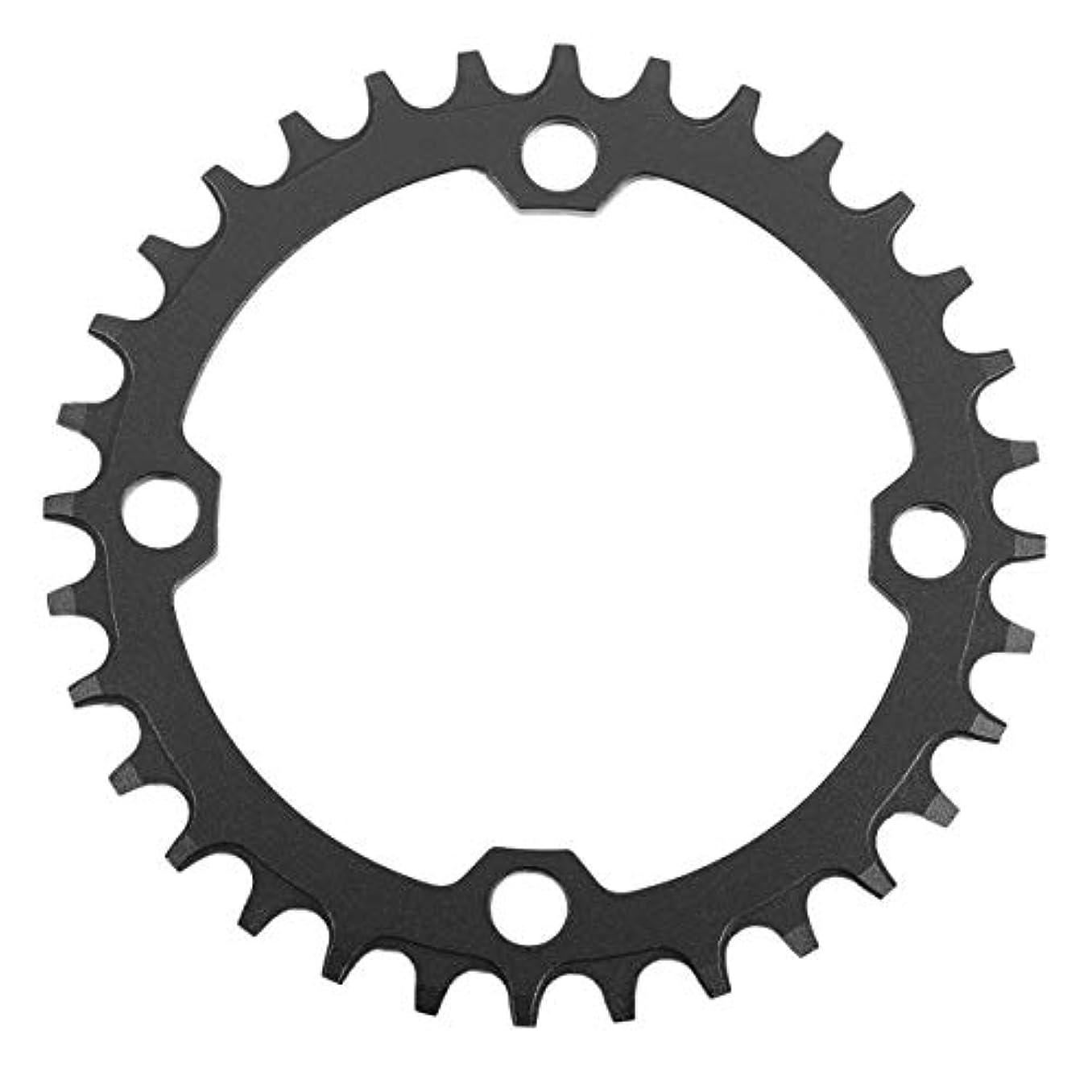 七面鳥書誌症候群DECKAS Narrow Wide Bike MTB Crank Round Oval Chainring Chain Ring自転車Chainwheel Bike Circle Single Plate-ブラック