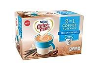 Nestle Coffeemate 2 in 1 Coffee & Creamer French Vanilla ネスレコフィメートコーヒー&クリームフレンチバニラ ミディアムローストコーヒーKカップ10杯分 [並行輸入品]