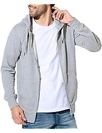 JIGGYS SHOP ジップパーカー メンズ スウェット パーカー 秋服 無地 薄手 細身 スリム サイドライン