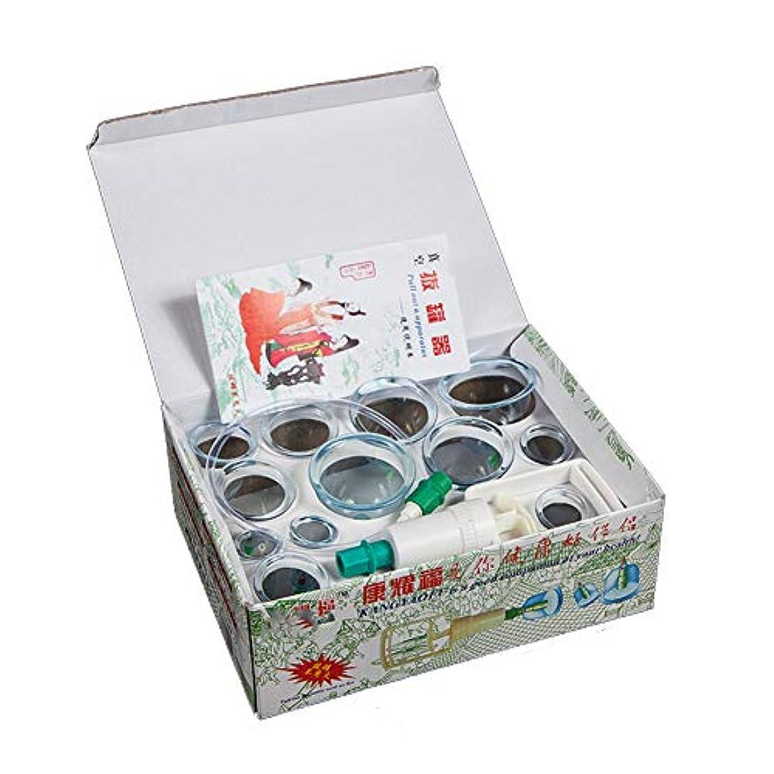 専制流去る12カップカッピングセットプラスチック、真空吸引生体磁気中国ツボ療法、ポンプ付きの家、ボディマッサージ痛み緩和理学療法排泄毒素