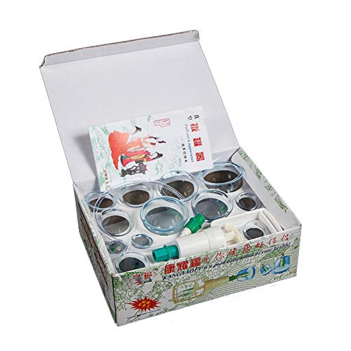 王室特異な起きる12カップカッピングセットプラスチック、真空吸引生体磁気中国ツボ療法、ポンプ付きの家、ボディマッサージ痛み緩和理学療法排泄毒素