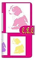 SIMフリー オッポ AX7 スマホケース 手帳型 カバー 【ステッチタイプ】 YD889 キャバリアキングチャールズスパニエル05 横開き