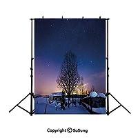 背景布 撮影用 夜空、白紫と黄色背景シート 厚地 不透明 プロ スタジオ背景スクリーンシート 写真、ビデオとテレビに対応 ポリエステル サイズ150*210cm
