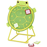 Melissa & Doug Sunny Patch Tootle Turtle Target Toss Game With 4 Self-Stick Bean Bags [並行輸入品]