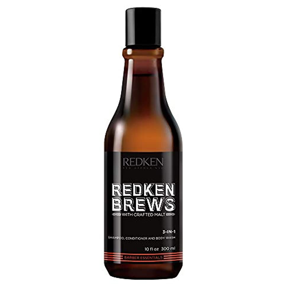 売るニックネーム飢え(10.1 Fluid Ounce) - Shampoo by Redken Brews 3-in-1 Shampoo, Conditioner & Body Wash 300ml