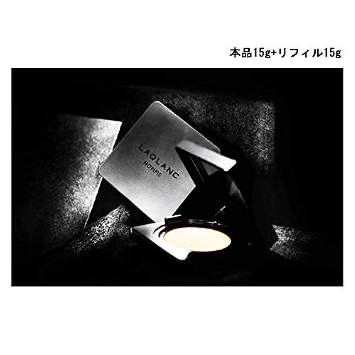 主流謝罪レンディション(Laqlanc)大人気 10秒完成 ナチュラル 肌色アップ 紫外線遮断 ホワイトニング 男性 エアクッション 15g +リフィル 15g [海外配送品] [並行輸入品]