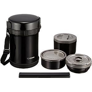 象印 ( ZOJIRUSHI ) 保温弁当箱 ステンレスランチジャー 【お茶わん約3杯分】 SL-GH18-BA