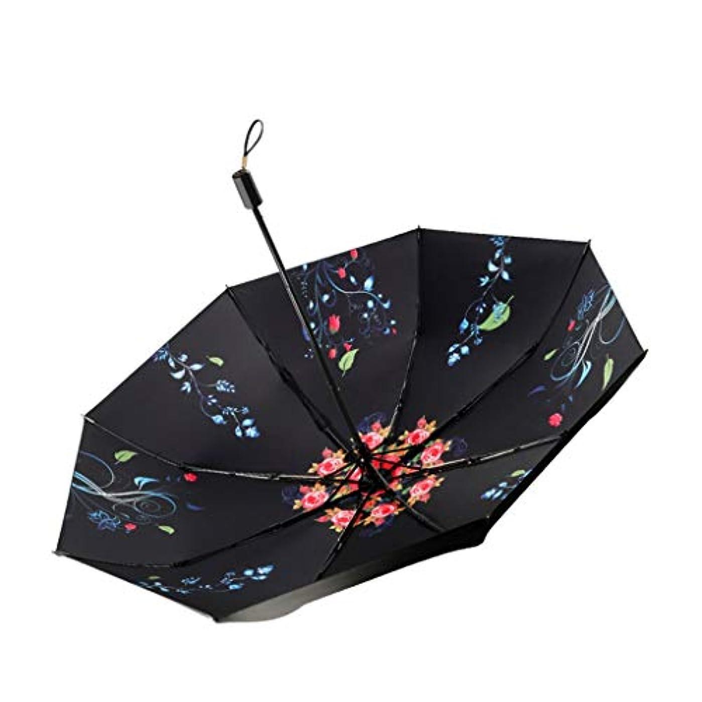 春このアイドルポケット傘折りたたみ傘旅行傘太陽の傘UVプロテクション、マルチカラーオプション、さまざまなオプション Huhero (Color : A)