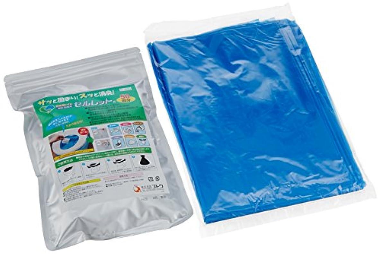 トランザクション奨励します冊子後藤 【サッと固まり、スッと消臭】水を使わない非常用トイレセルレット(凝固?脱臭剤) S-100F