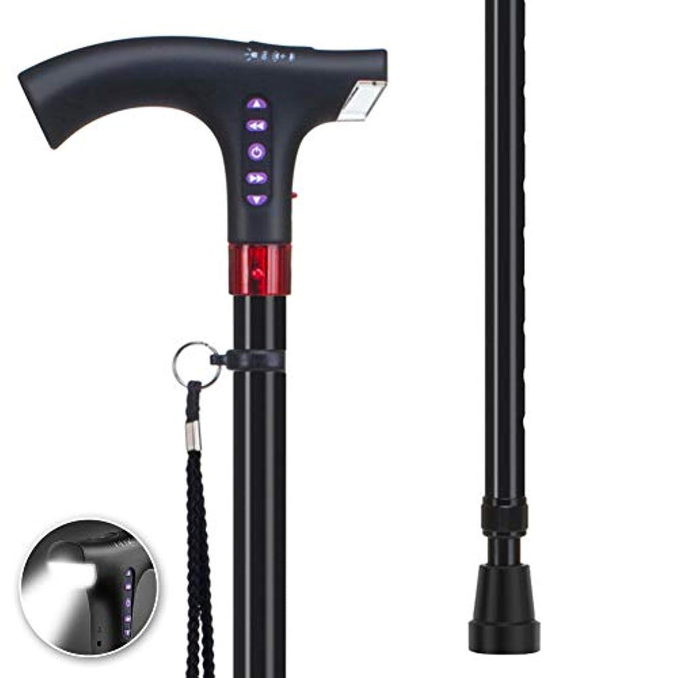 財団コマース換気LED杖、快適さと人間工学のしやすさと伸縮多機能松葉杖、10ファイルの高さ調節可能